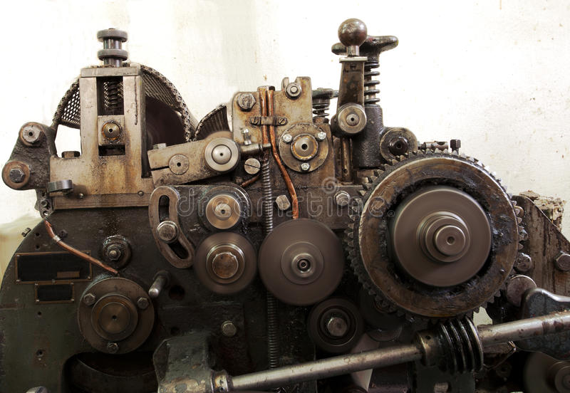 Machine. Details of a machine, old and used royalty free stock photography