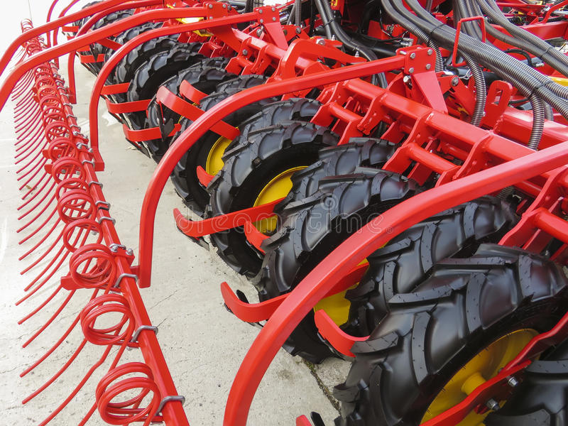 Machine agricole de herse photographie stock libre de droits