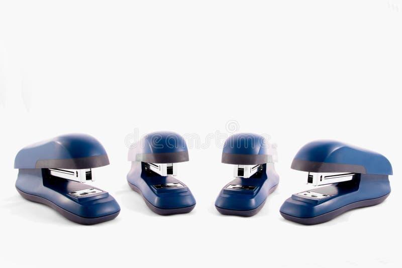 Machine bleue d'agrafeuses image stock