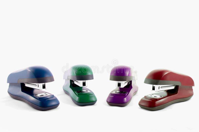 Machine colorée d'agrafeuses photo libre de droits