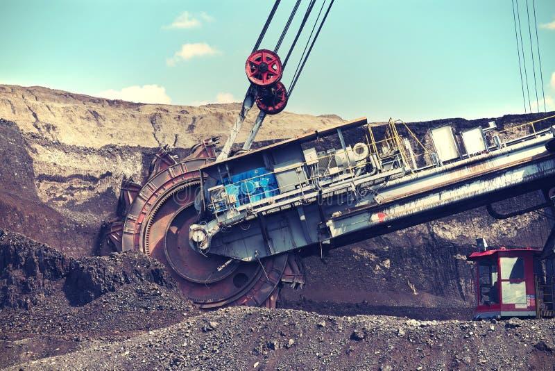 Machine d'abattage, charbon de extraction photographie stock libre de droits