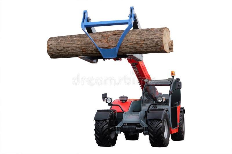 Machine d'abattage d'arbres image libre de droits