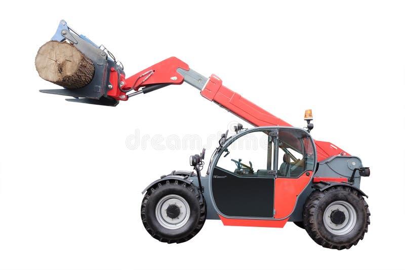 Machine d'abattage d'arbres images stock
