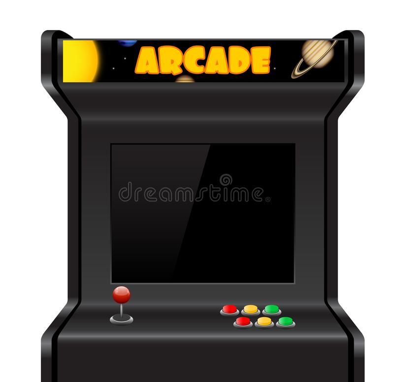 Machine d'arcade de vecteur illustration stock