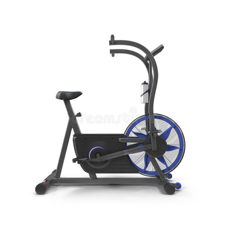 Machine d'exercice de bicyclette d'isolement sur le blanc illustration 3D photographie stock libre de droits