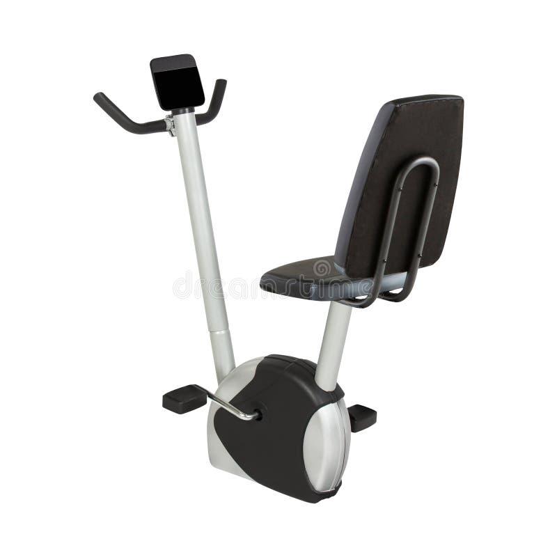 Machine d'exercice de bicyclette d'isolement sur le blanc image libre de droits