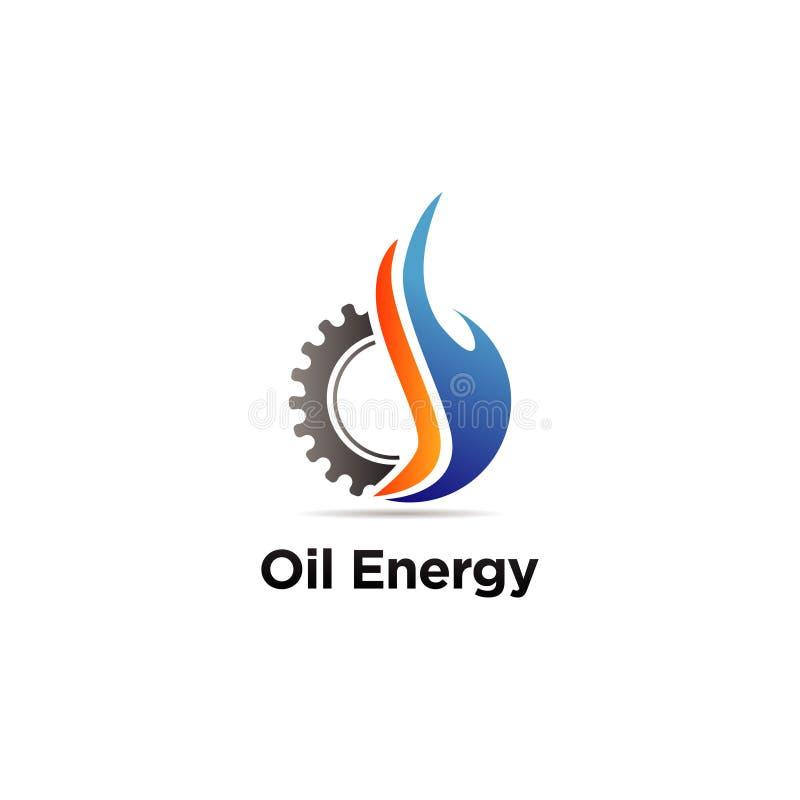 Machine d'huile machinant Logo Sign Symbol Icon illustration de vecteur