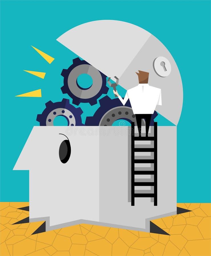 Machine d'idée illustration de vecteur