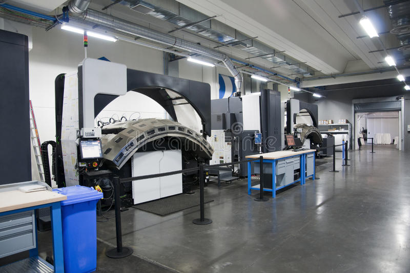 Machine d'impression : presse rotatif digital photo stock