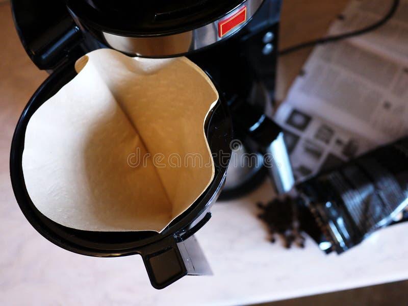 Machine de café d'égouttement pour le café de brassage chaque jour Peut être appliqué à la maison et le bureau, photographie stock