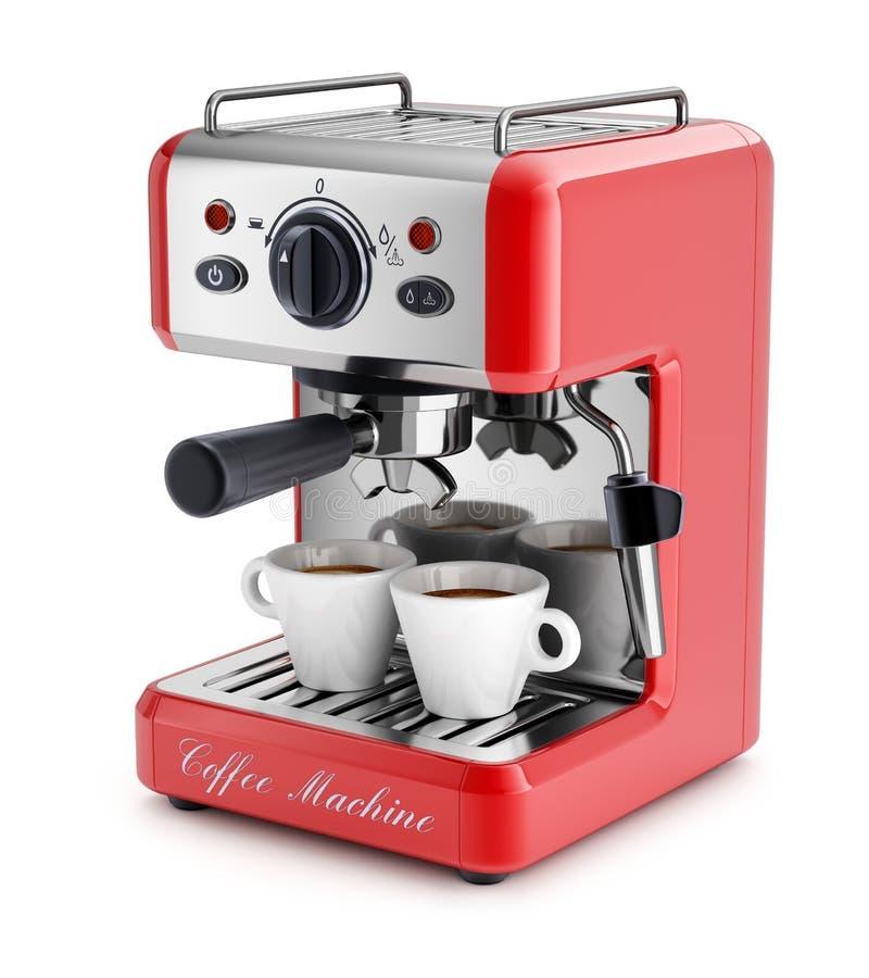 Machine de café d'expresso illustration de vecteur