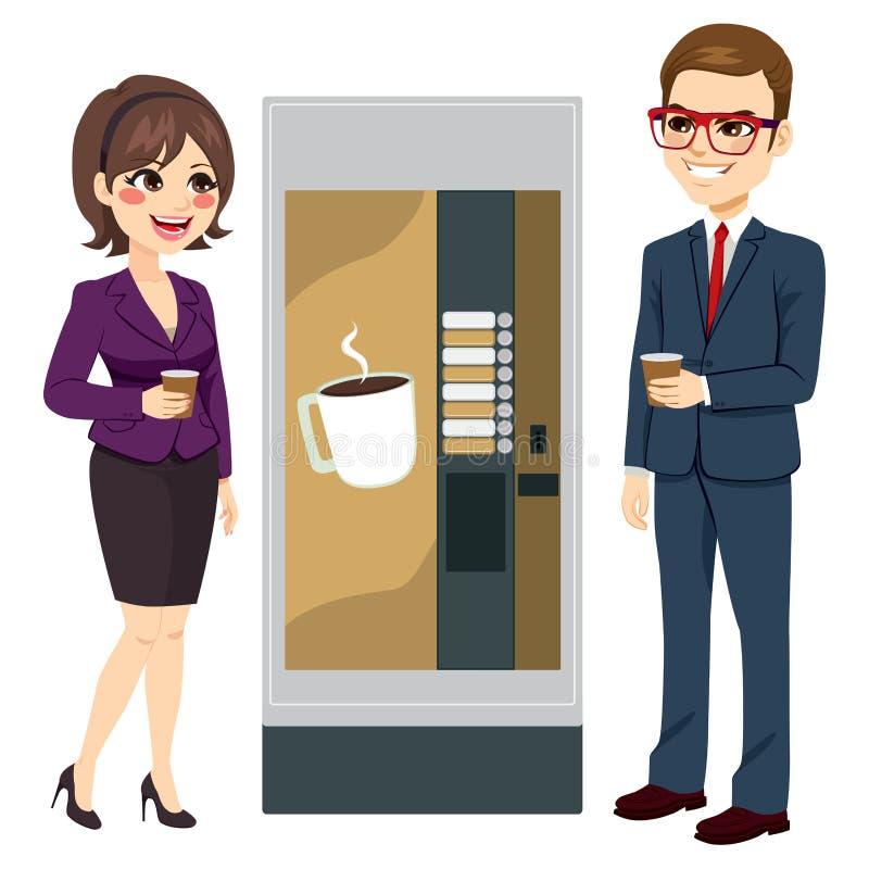 Machine de café de travailleurs illustration libre de droits