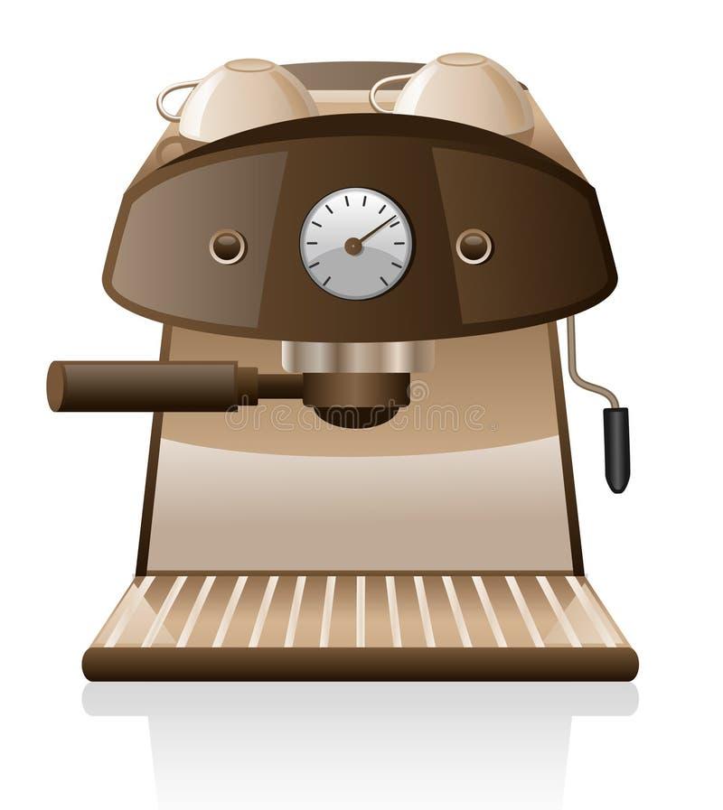 Machine de café express illustration de vecteur
