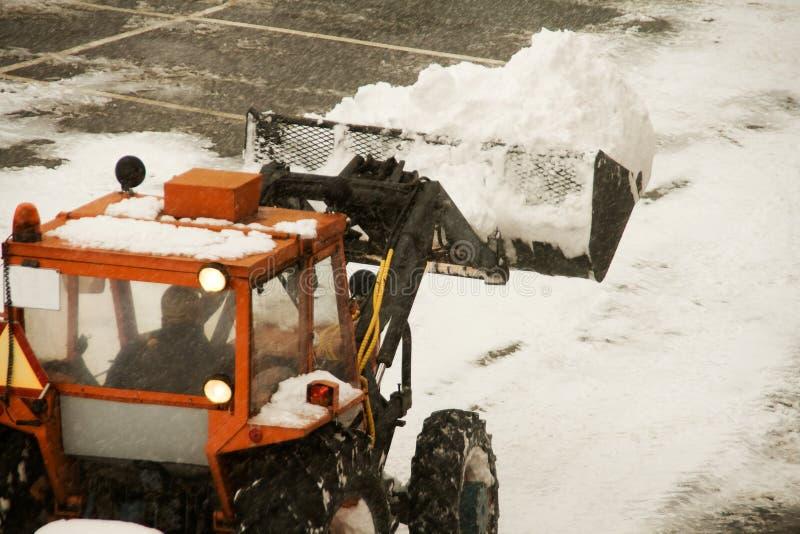 Machine de charrue de neige photo libre de droits