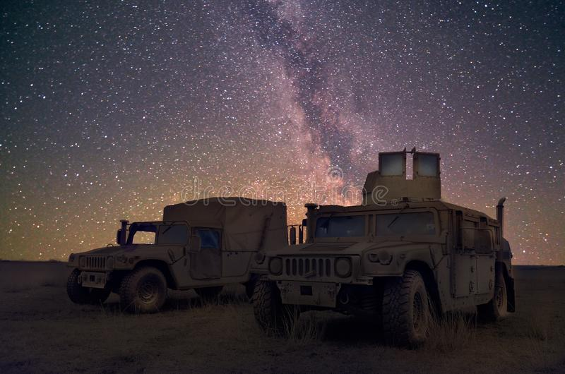 : Machine de combat dans le polygone militaire roumain dans le PLATINE d'exercice LYNX 16 sur Galati, Roumanie, images stock