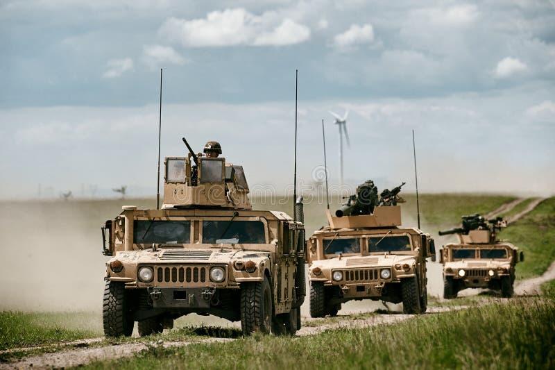 Machine de combat HMMWV images libres de droits