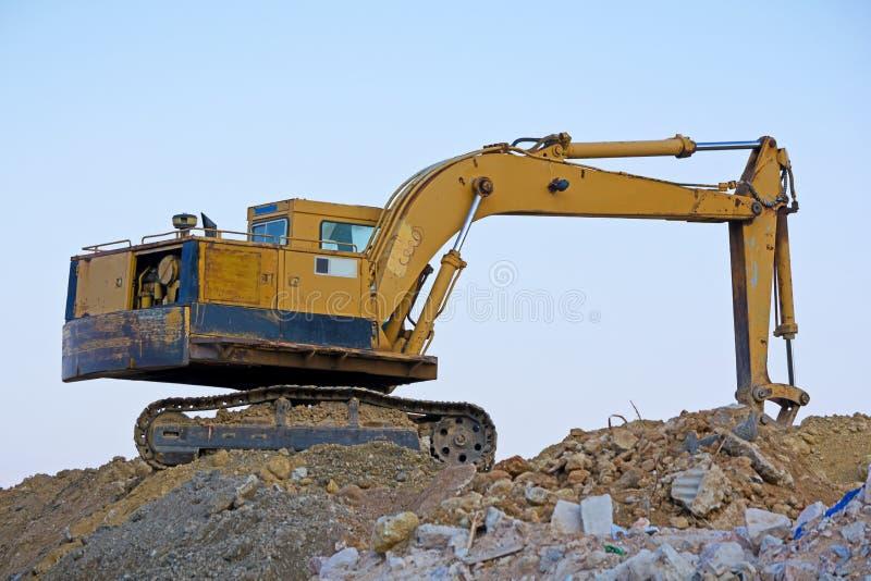 Machine de creusement image stock