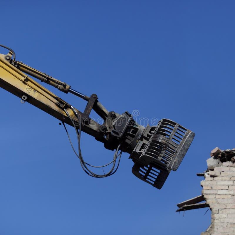 Machine de démolition photographie stock