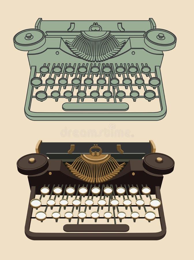 Machine de dactylographie de vintage illustration de vecteur