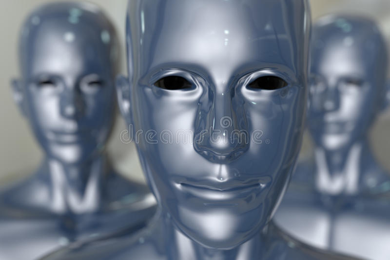 Machine de gens - intelligence artificielle. illustration libre de droits