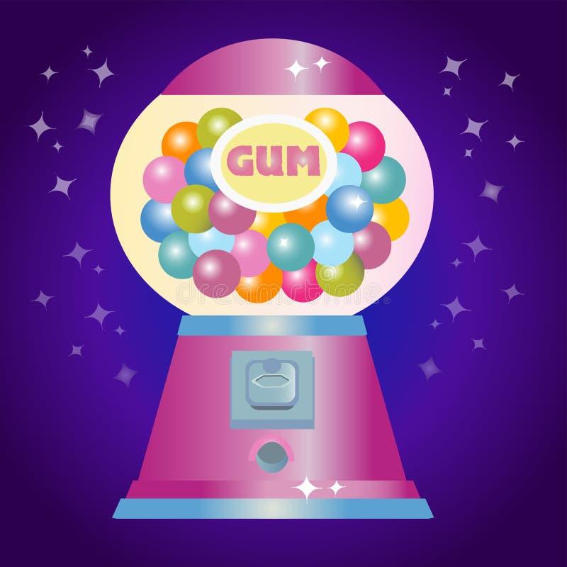 Machine de griffe de jouet avec des bonbons illustration libre de droits