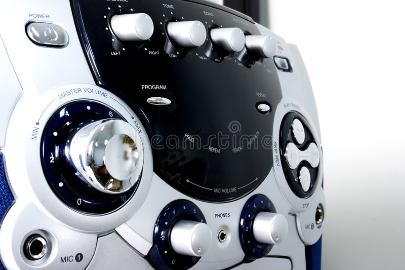 Download Machine de karaoke image stock. Image du bande, musique - 53327
