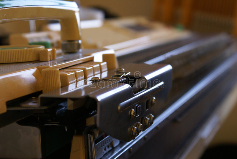 Machine de Knit photographie stock libre de droits