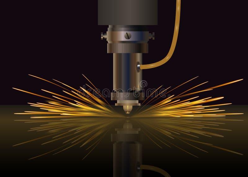 Machine de laser pour le métal Illustration de vecteur illustration de vecteur