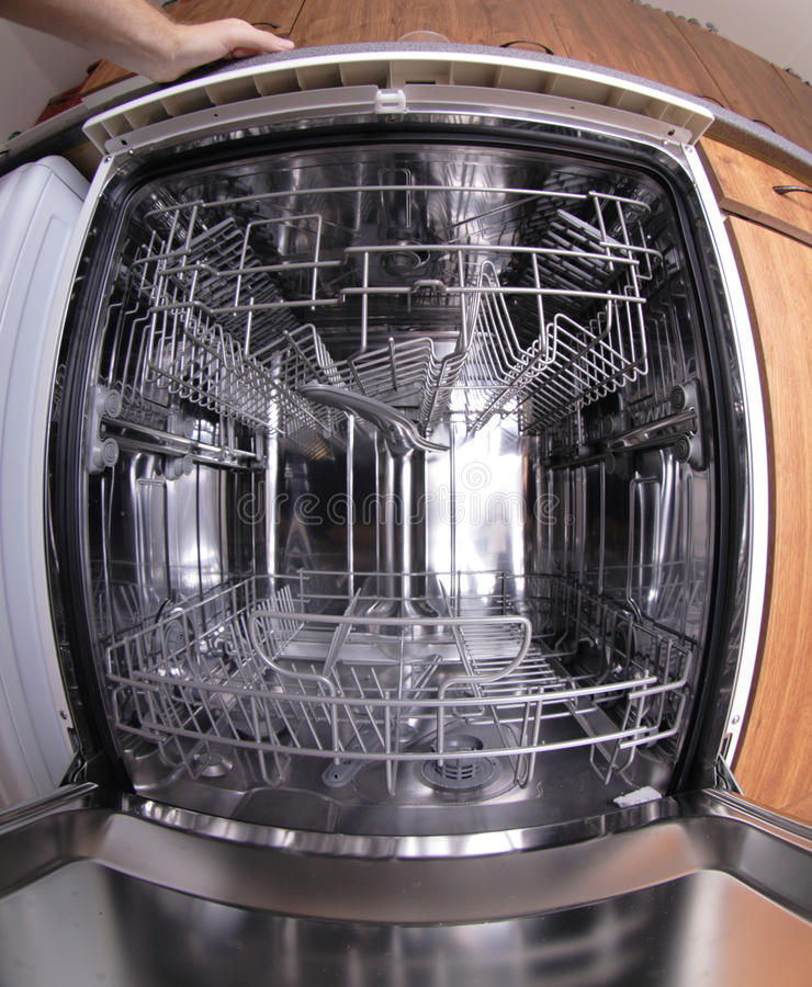 Machine de lave-vaisselle photographie stock libre de droits