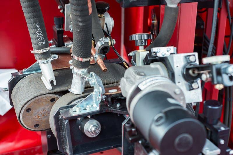 Machine de soudure à l'arc électrique submergée image stock