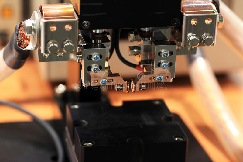 Machine de soudure image stock