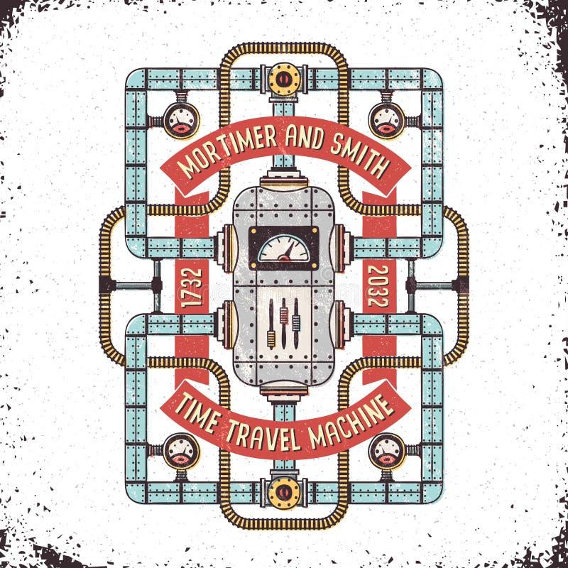 Machine de temps fantastique illustration libre de droits