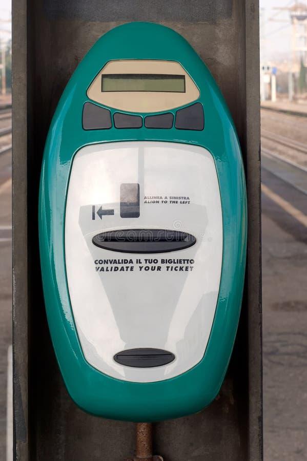 Machine de validation italienne image libre de droits