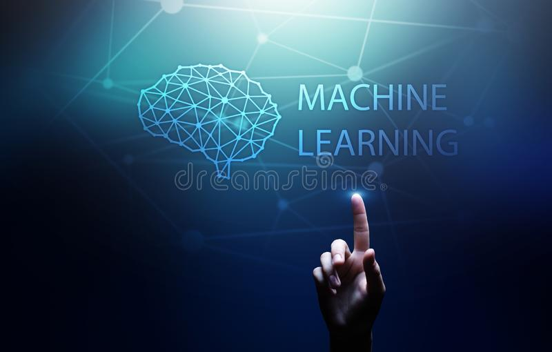 Machine Deep learning algorithms and AI Artificial intelligence. Internet and technology concept on virtual screen. Machine Deep learning algorithms and AI royalty free stock photo