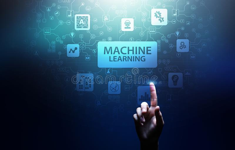 Machine Deep learning algorithms, Artificial intelligence, AI, Automation and modern technology in business as concept. Machine Deep learning algorithms stock photography