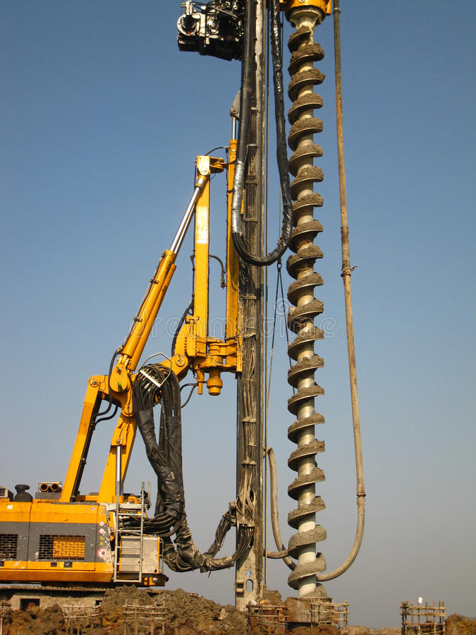 Machine for drilling stock photography
