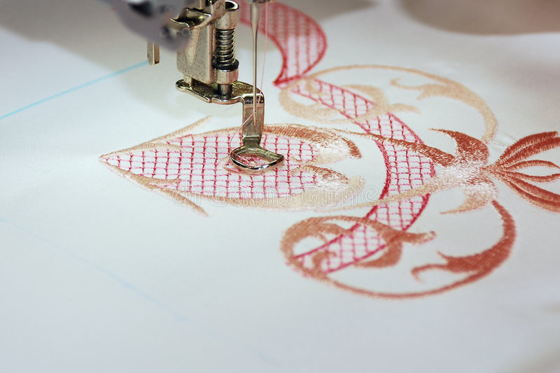 Download Machine embroidery stock photo. Image of pastime, texture - 1287474