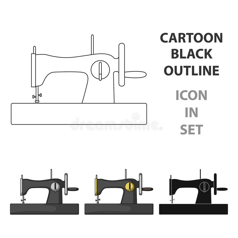 Machine for fast sewing. Sewing or tailoring tools kit single icon in cartoon style vector symbol stock illustration. Machine for fast sewing.Sewing or stock illustration
