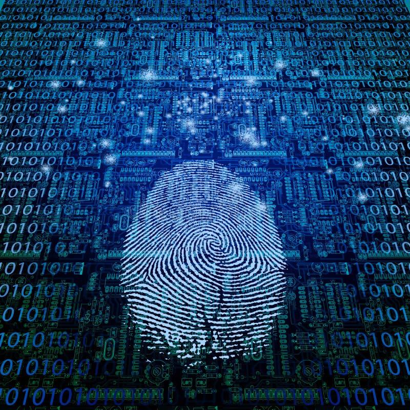 Download Machine Fingerprint stock illustration. Illustration of graphic - 25425713