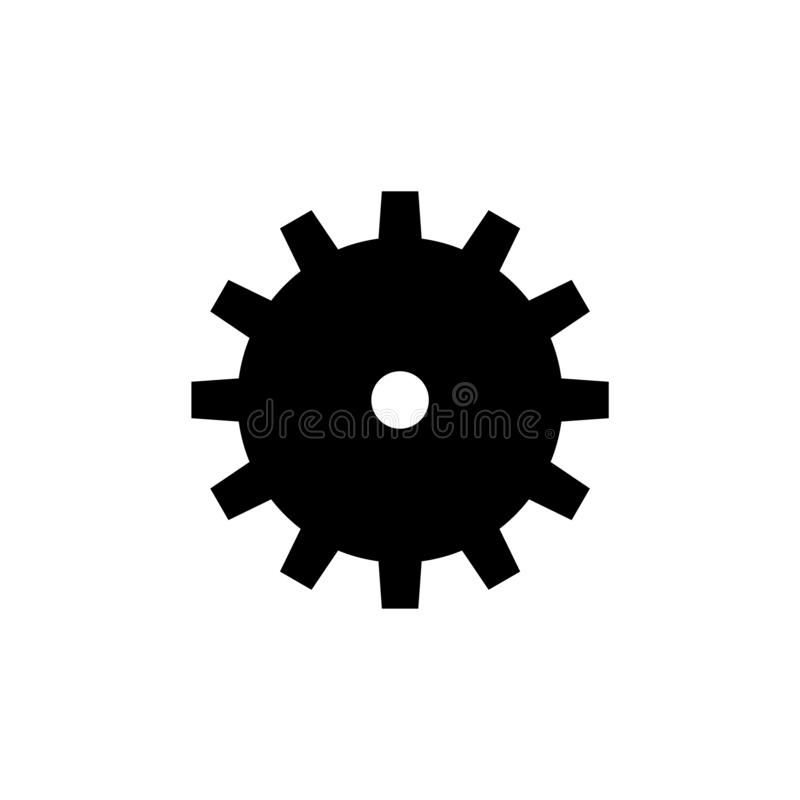 Machine Gear, Machinery Mechanism Vector Icon stock illustration
