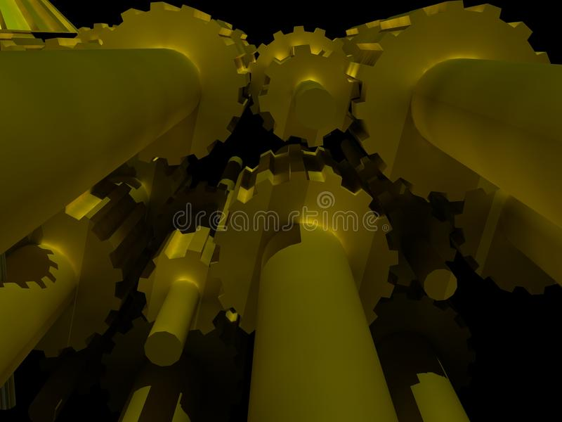 Download Machine gears stock illustration. Image of business, abstract - 11066096