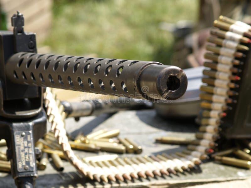 Machine-gun. Focus in gun stock images