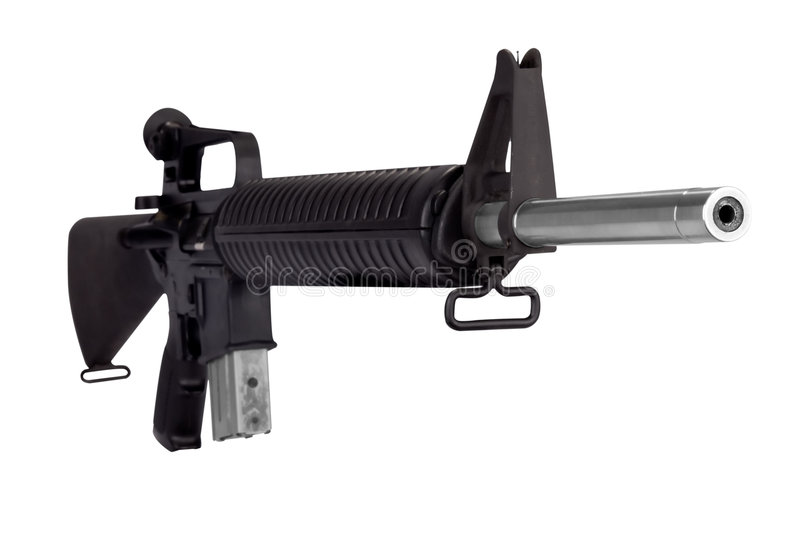 Machine gun. Isolated over white with a clipping path stock photo
