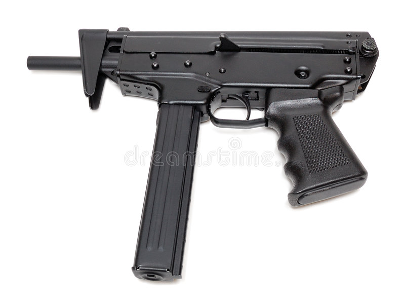 Machine gun. Isolated over a white background royalty free stock image