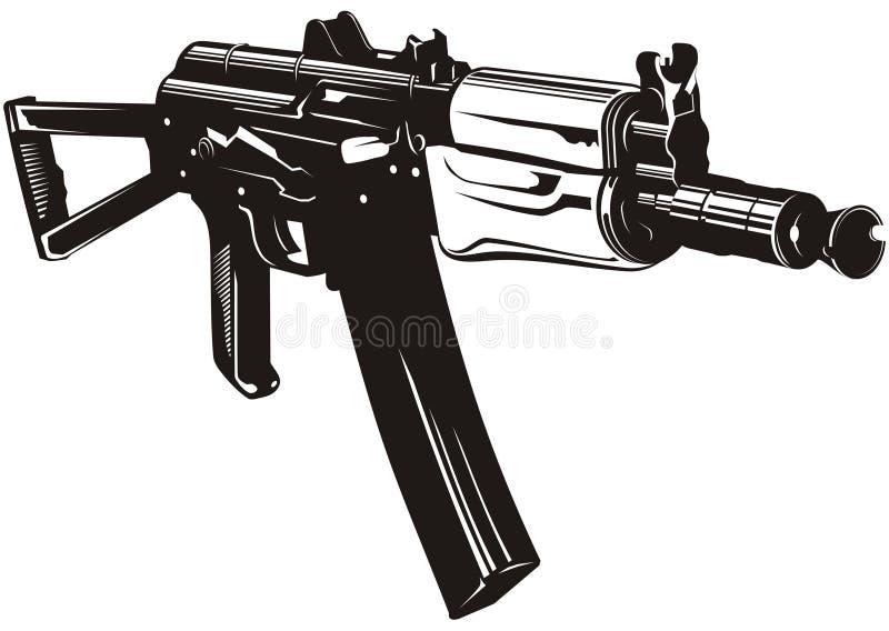 Download Machine gun stock vector. Image of combat, fear, ak47 - 9182652