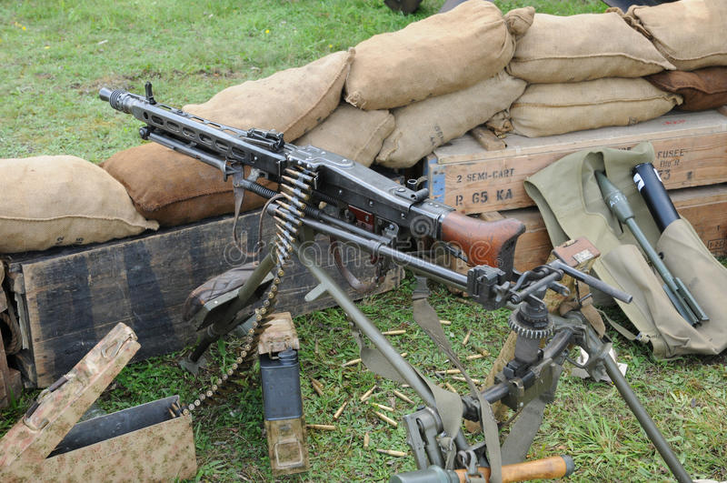 Machine gun MG 42 stock photography