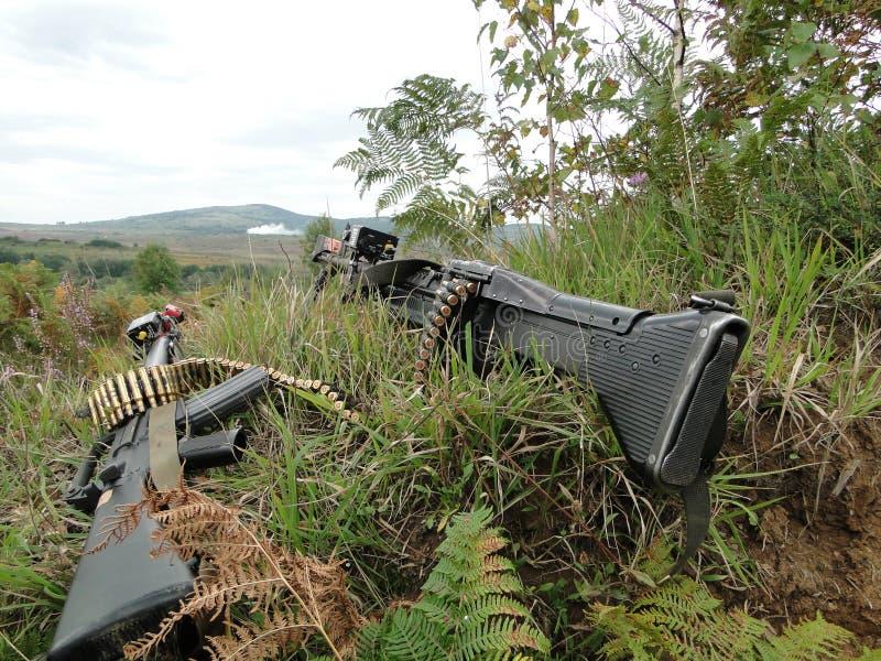 Machine gun and rifle royalty free stock photo