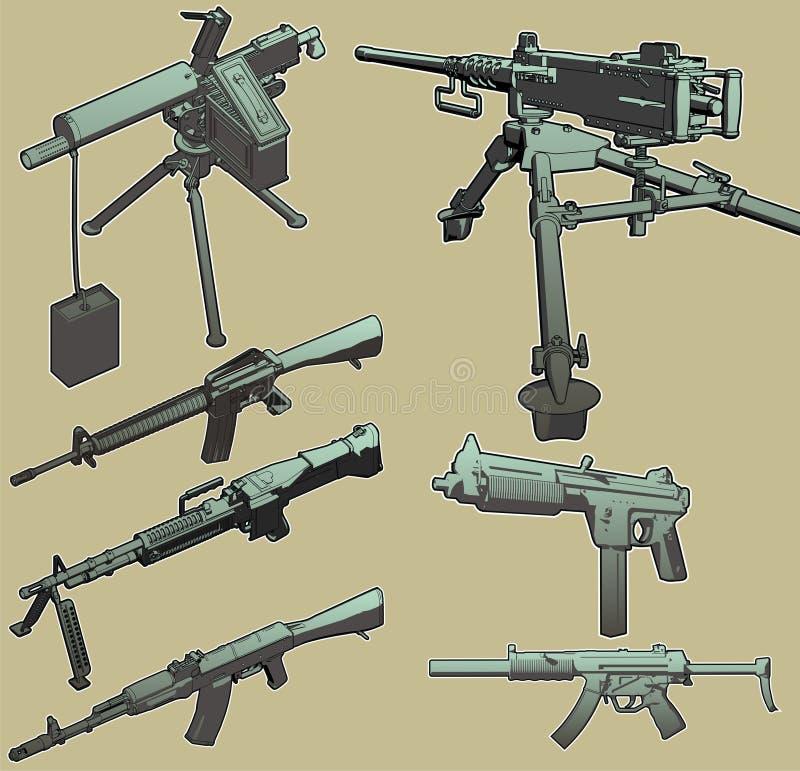 Machine Gun Selection. stock photos