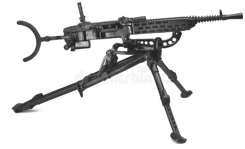 Download Machine Gun On Tripod Royalty Free Stock Photography - Image: 1143167
