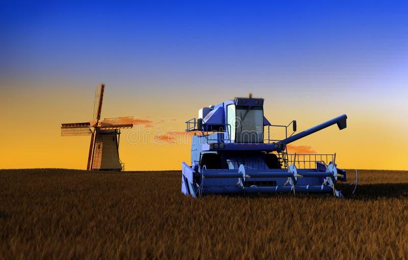 Download Machine for harvesting stock illustration. Image of grain - 15707630